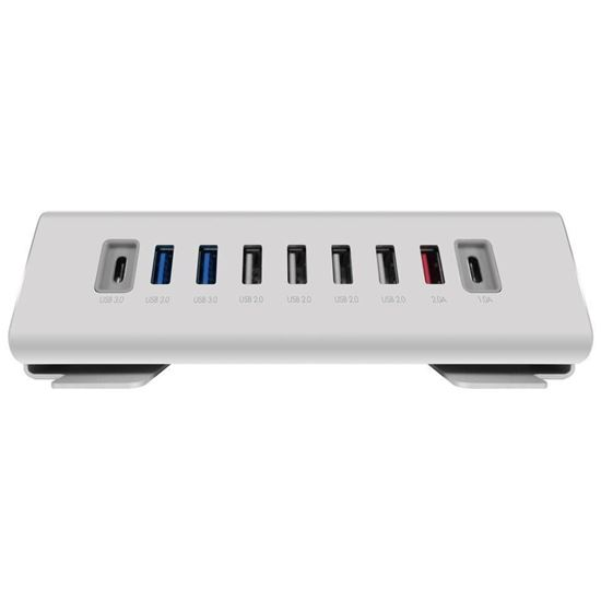Picture of Macally USB-C to 9 port USB-A/USB-C Hub/Charger