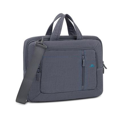 """Picture of RivaCase 7520 Grey Canvas Laptop Bag 13.3""""-14"""""""