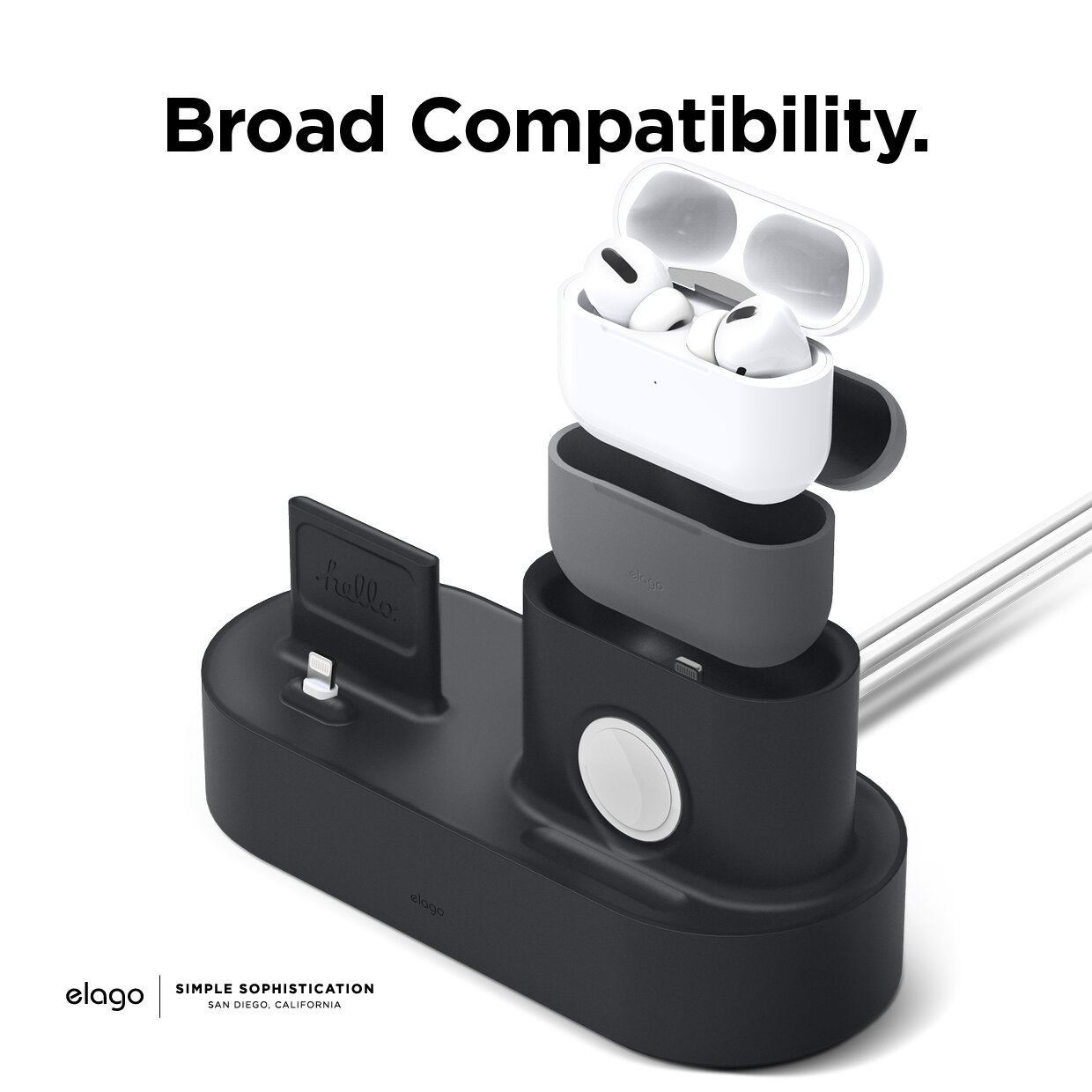 Picture of Elago Trio Charging Station Compatible with AirPods Pro