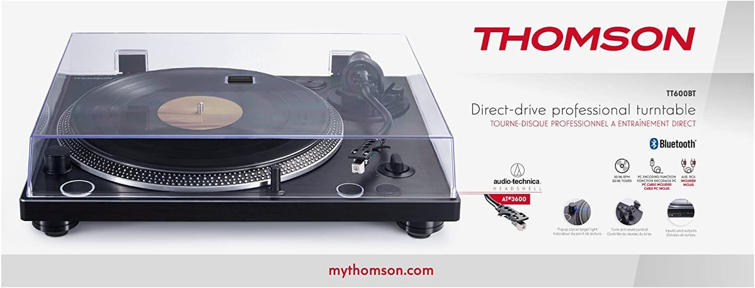 Picture of Thomson Manual Belt Drive Turntable - Wood