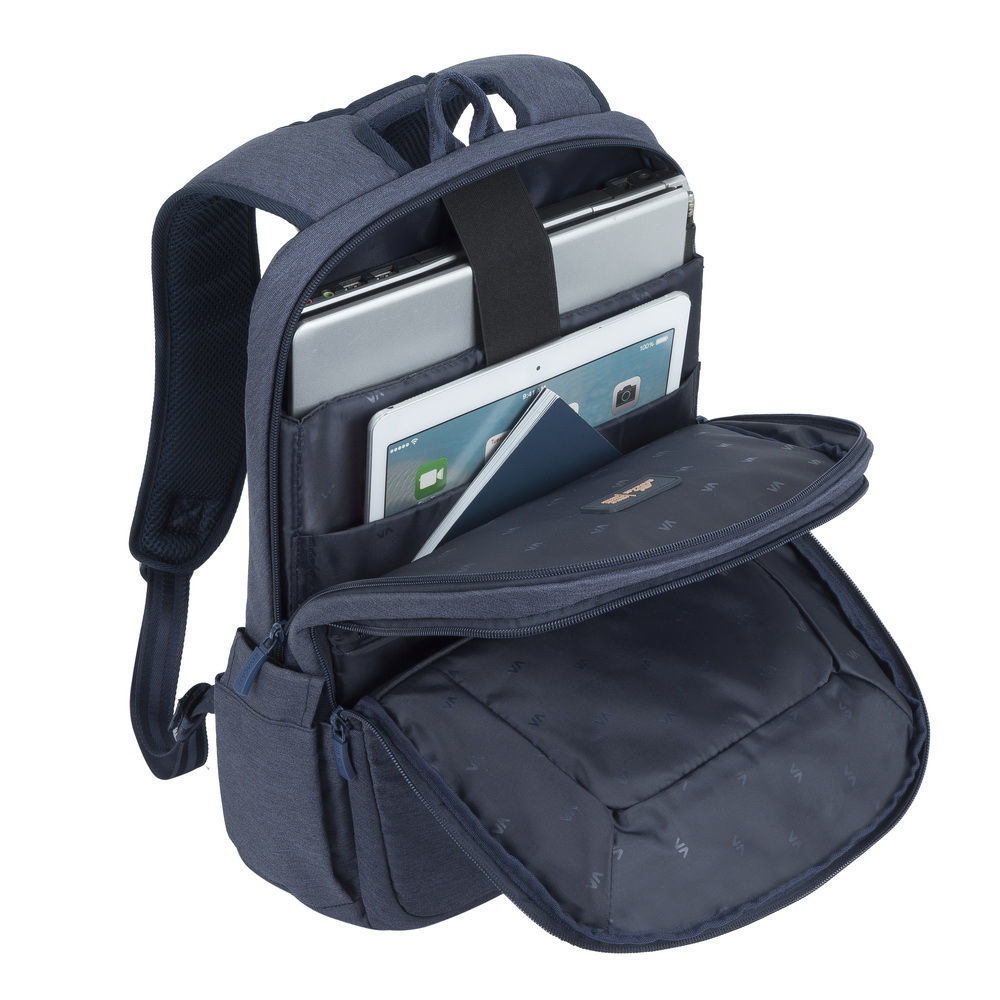 "Picture of RivaCase 7760 Laptop Backpack 15.6"" - Blue"